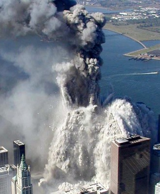 WTC1 turns to dust on 9/11